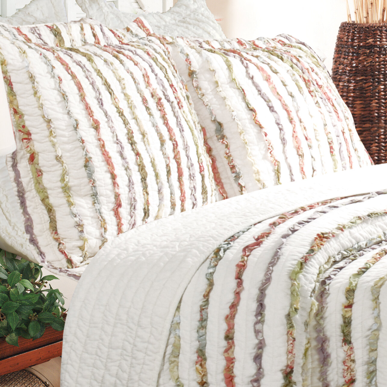 The Pillow Collection Raith Stripes Bedding Sham Tamale Queen//20 x 30