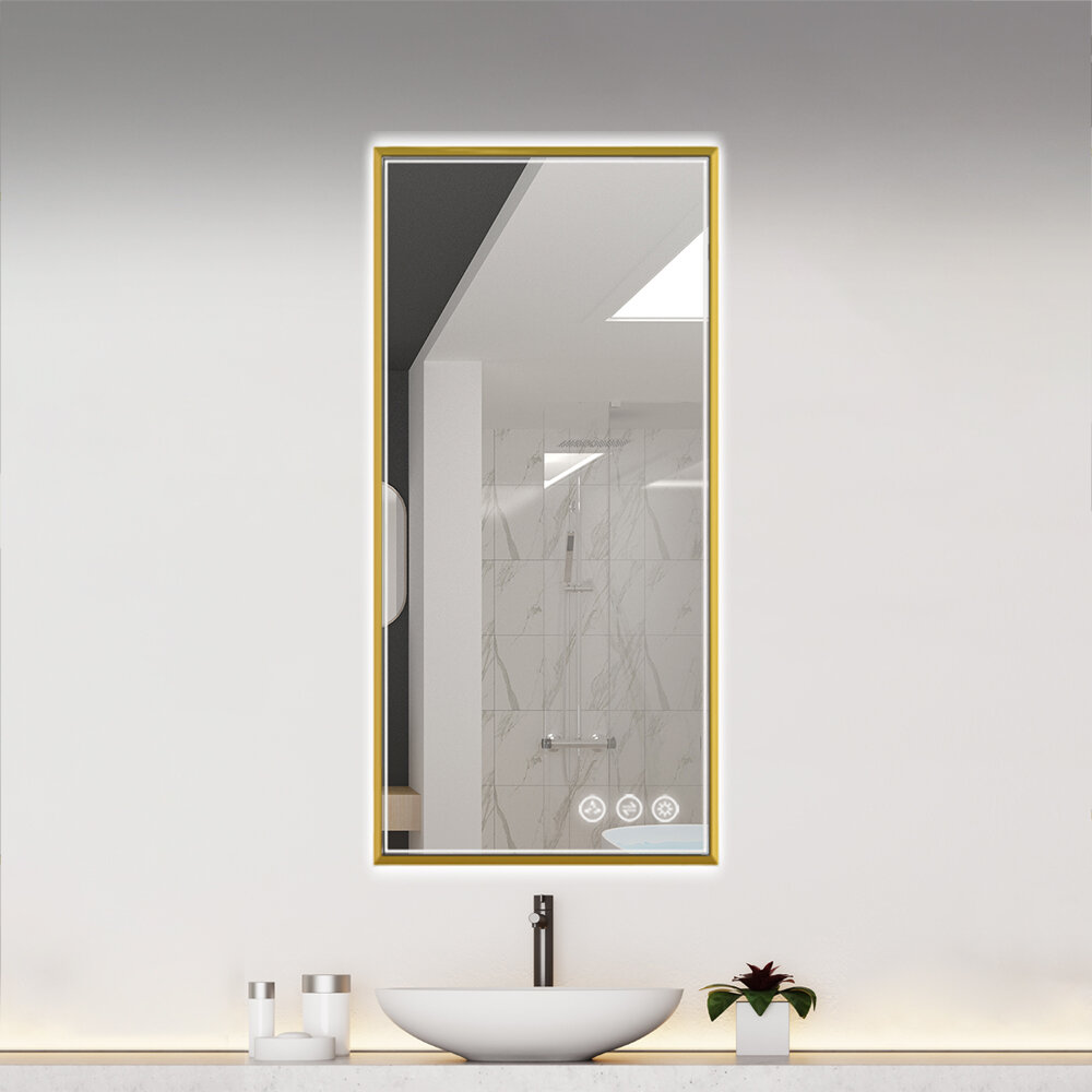 Gold Square Mirrors You Ll Love In 2021 Wayfair