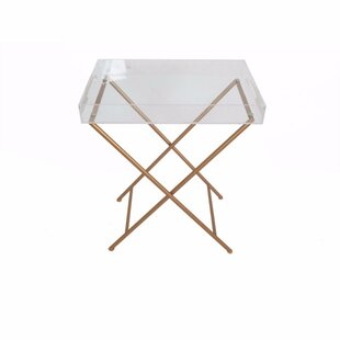 Mclellan Acrylic and Metal Tray Table by Ivy Bronx