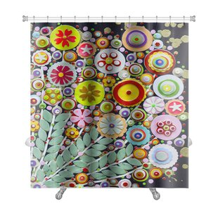 Art Touch Vibrant Spring Bouquet Full of Wild Colorful Flowers Premium Single Shower Curtain