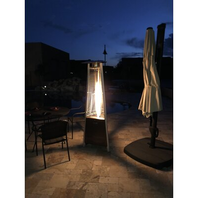 AZ Patio Heaters Compact Glass Tube 42000 BTU Propane Patio Heater