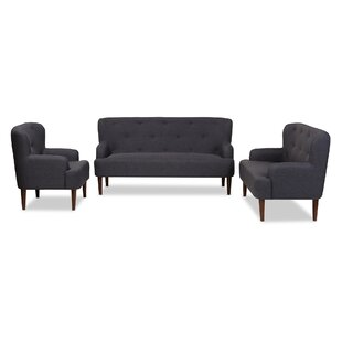 Inexpensive Aria 3 Piece Living Room Set by Wholesale Interiors Reviews (2019) & Buyer's Guide
