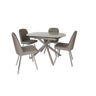 Brockton Extendable Dining Set With 4 Chairs By Wade Logan