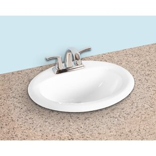 Winfield products Ceramic Oval Drop-In Bathroom Sink with Overflow