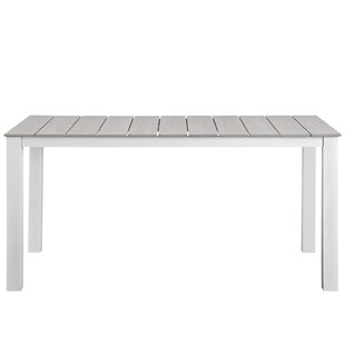 Latitude Run Ellport Plastic Patio Dining Table