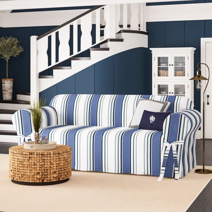 Magnificent Box Cushion Sofa Slipcover Onthecornerstone Fun Painted Chair Ideas Images Onthecornerstoneorg