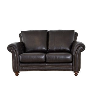 Clinton Leather Loveseat