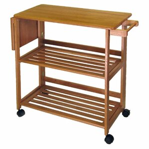 Lavina Kitchen Island with Wood Top by Andover Mills