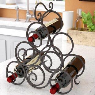 Nelda 6 Bottle Tabletop Wine Bottle Rack by Fleur De Lis Living