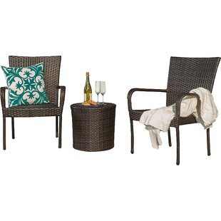 Stacie 3 Piece Rattan Conversation Set