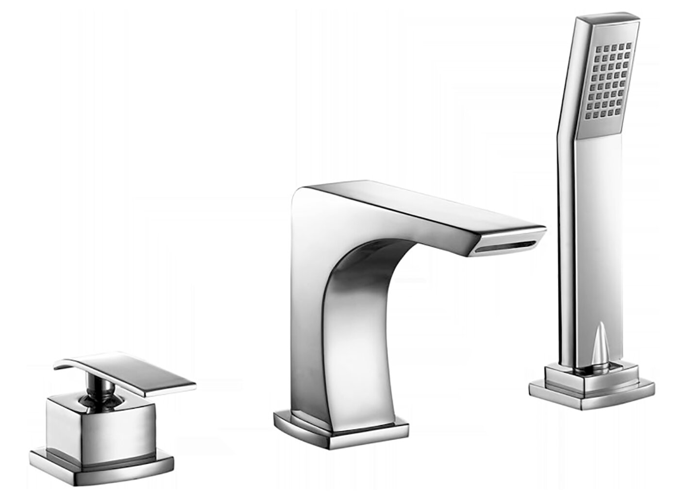 Valley Acrylic Ltd Single Handle Deck Mounted Roman Tub Faucet With Diverter And Handshower Wayfair