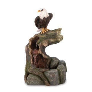 Zingz & Thingz Stone Powder, Resin and Glass Majestic Eagle Water Fountain