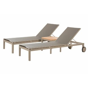 Ivery Chaise Lounge with Table