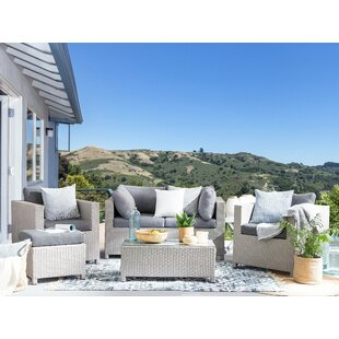 Crume 4 Seater Rattan Sofa Set By Sol 72 Outdoor