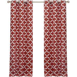 Gladys Geometric Blackout Grommet Curtain Panels (Set of 2)
