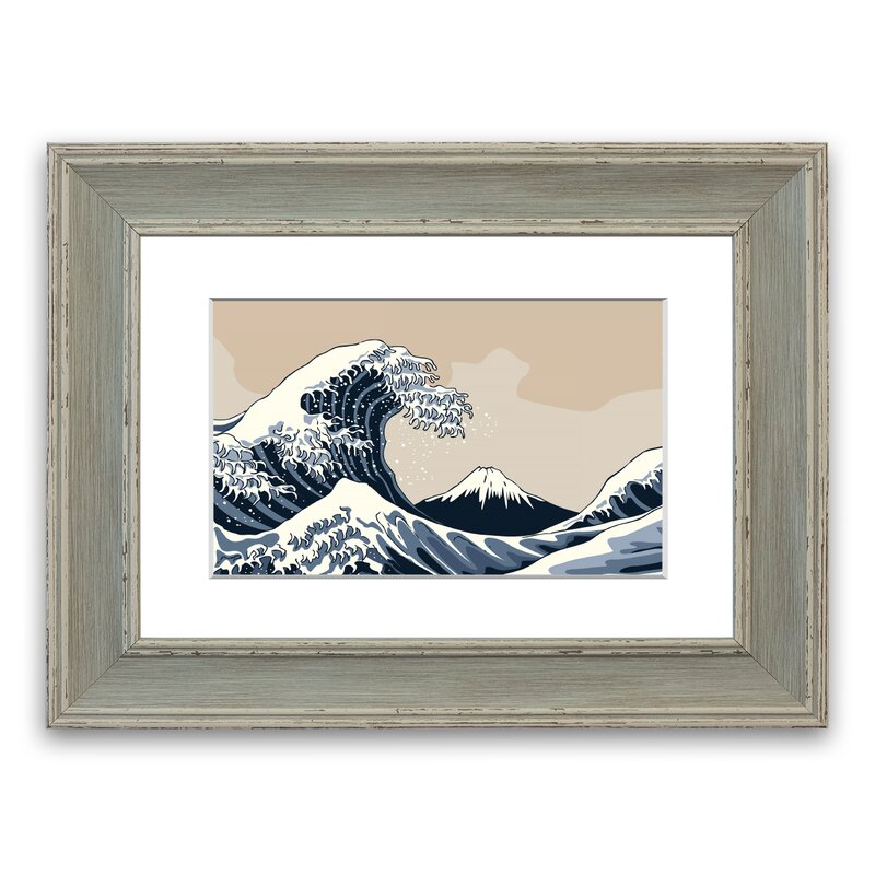 East Urban Home Wave 1 Picture Frame Graphic Art Print On Paper Wayfair Co Uk