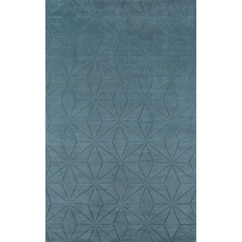 Momeni Gramercy Geometric Hand Loomed Wool Dark Blue Area Rug Perigold