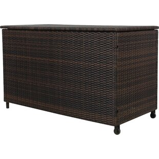 Ugarte 150 Gallon Wicker Deck Box by Highland Dunes