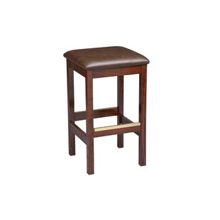 Amoroso Beechwood Square Backless Upholstered Seat Bar Stool Red Barrel Studio