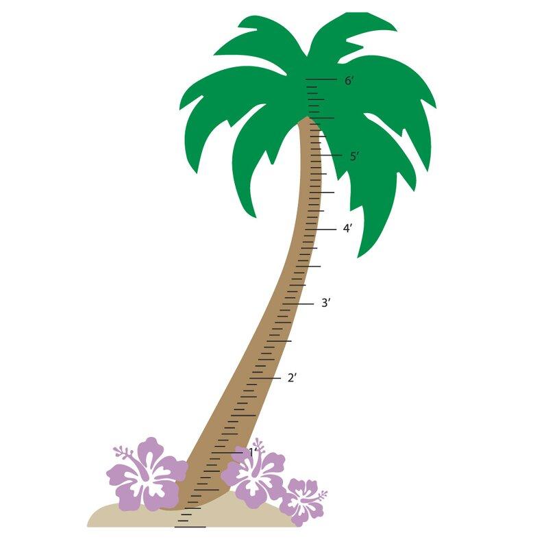 Palm Tree Growth Chart Wall Decal