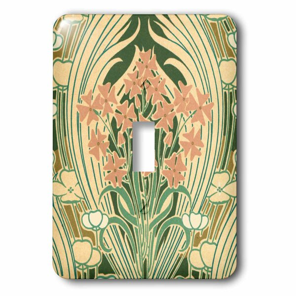 3drose Vintage Peach Floral 1 Gang Toggle Light Switch Wall Plate Wayfair