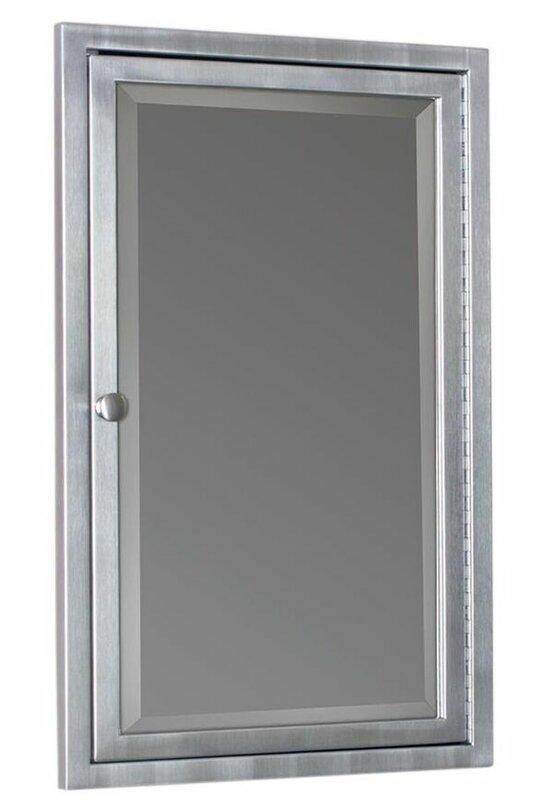 Gould 16 X 26 Recessed Framed Medicine Cabinet With 3 Adjule Shelves