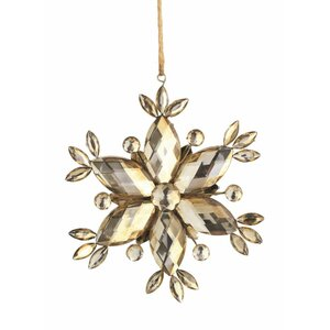 Metal Snowflake Shaped Ornament (Set of 6)