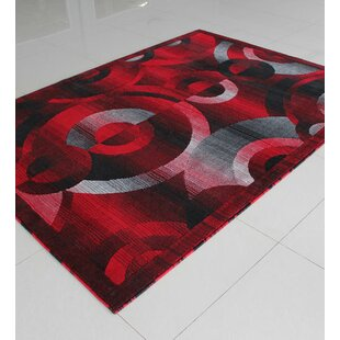 Black/Red/Grey Area Rug By Rug Tycoon