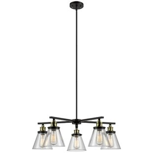 Shae 5-Light Shaded Chandelier by Globe Electric Company