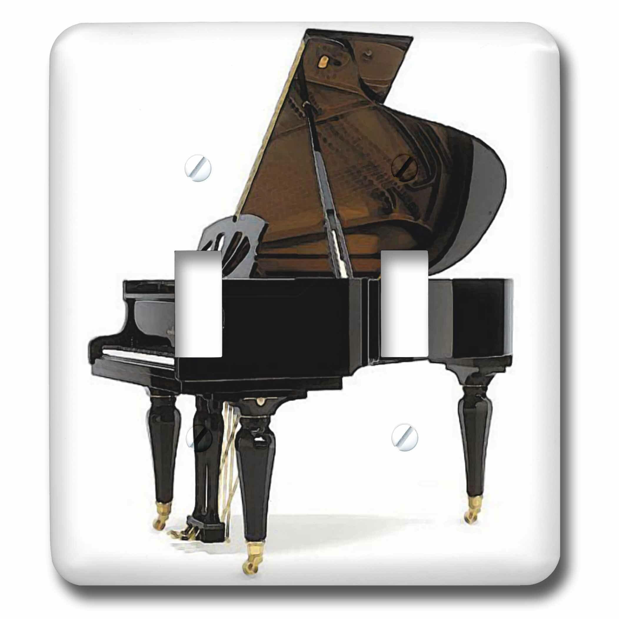 3drose Grand Piano 2 Gang Toggle Light Switch Wall Plate Wayfair