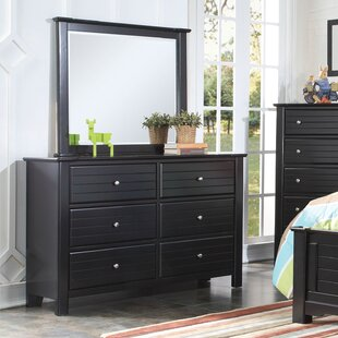 Saylor 6 Drawer Double Dresser with Mirror By Harriet Bee
