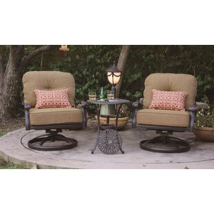 Three Posts Lebanon Club Patio Chair with Cushion (Set of 2)