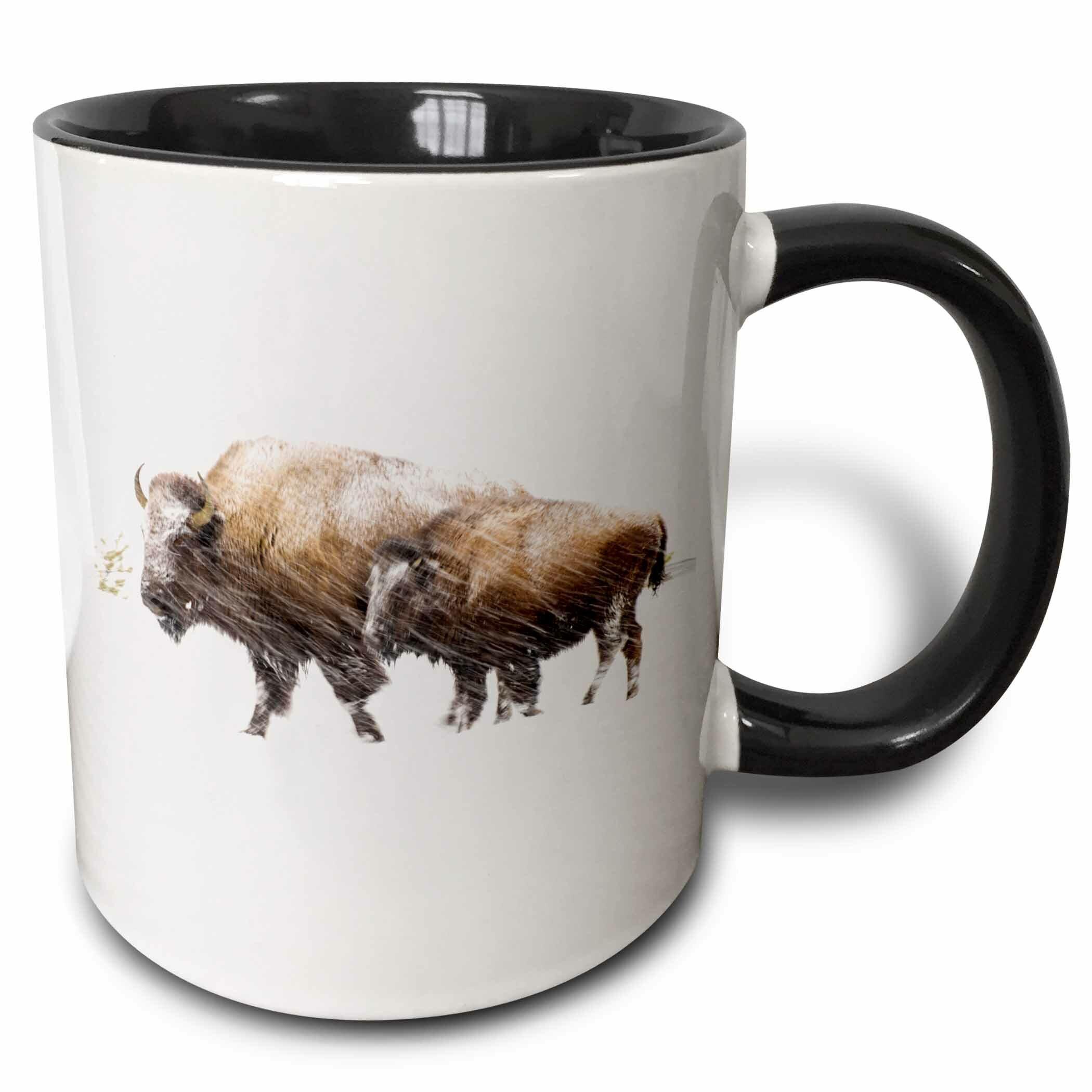 Union Rustic Korolevu Usa Wyoming National Park Bison In Winter Coffee Mug Wayfair