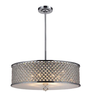 Rosdorf Park Abram 6-Light Drum Pendant