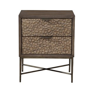 Jakey 2 Drawer Nightstand by Union Rustic