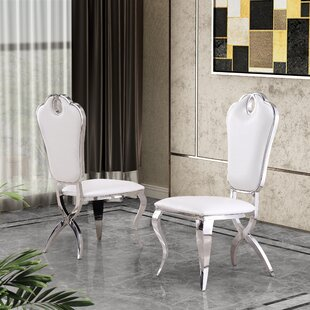 Malt Upholstered Dining Chair (Set of 2) Everly Quinn