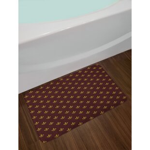 French Inspired Fleur De Lis Bath Rug