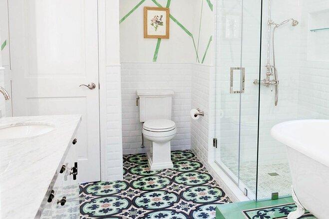 16 Bathroom Floors That Pull Off Pattern | Wayfair