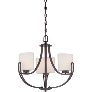 Kearse 3-Light Shaded Chandelier by Charlton Home