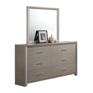 Whitley 6 Drawer Double Dresser with Mirror