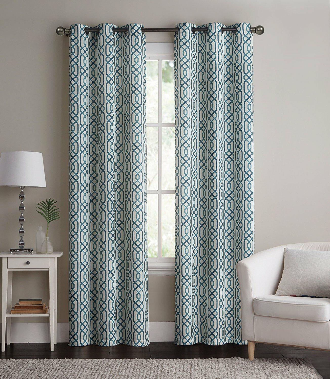 Wrought Studio Coto Energy Saving Hotel Quality Geometric Blackout Thermal Grommet Curtain Panel Pair Reviews Wayfair