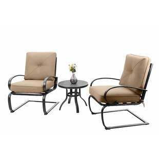 Stiner 3 Piece Bistro Set with Cushions b..