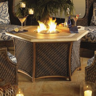 Tommy Bahama Outdoor Island Estate Lanai Natural Gas Fire Pit Table