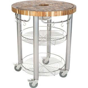 Francis Kitchen Cart With Butcher Block Top by Rebrilliant Cool