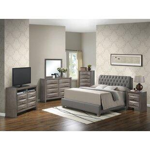 Latitude Run Medford Upholstered Panel Bed