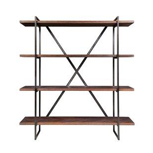 Herringbone Inlay Etagere Bookcase by Design Tree Home