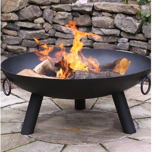 Dakota Steel Charcoal/Wood Burning Fire Pit By Gardeco