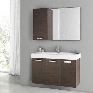 Cubical 2 41 Single Bathroom Vanity Set with Mirror by ACF Bathroom Vanities