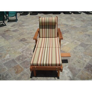 Orren Ellis Varda Solid Wood Chaise Lounge