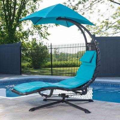 Ebern Designs Maglione 360 degrees Chair Hammock  Color: True Turquoise